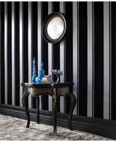Wallpaper Inn Store - Black Flock Star Stripe , R1.999,95 (http://shop.wallpaperinn.co.za/black-flock-star-stripe/)