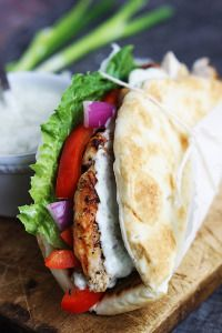 Easy Chicken Gyros & Tzatziki Sauce