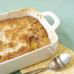 This easy peach cobbler recipe is one of our most popular desserts and is the pefect ending to any summertime meal.