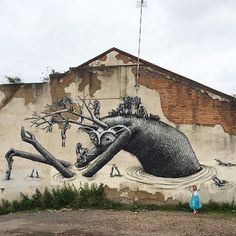 - As always a highly imaginative and magical contribution from Phlegm to the City Of Colours street art festival in Birmingham. Graffiti Murals, Mural Art, Graffiti Artists, Street Mural, Black Photography, Outdoor Art, Art Festival, Street Artists, Public Art