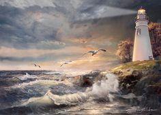 Gina Femrite, Marblehead Lighthouse at Sunset