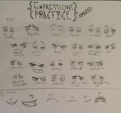 Expressions practice doodles