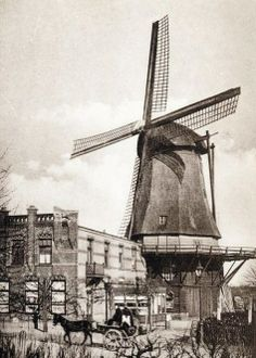 Buitengebied – Gesloopt & Verdwenen in Amersfoort Utrecht, Local History, The Province, Le Moulin, Old And New, Netherlands, Holland, Black And White, Landscape