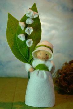 Lily of the valley Flower Child Waldorf door KatjasFlowerfairys