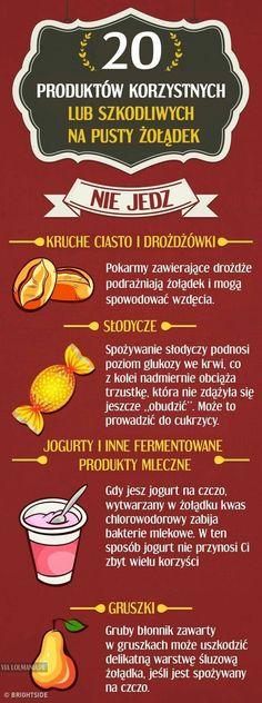 Produkty , które są korzystne lub szkodliwe na pusty żołądek ( cz.1)