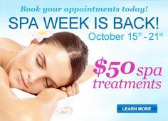 Spa Week - $50 Treatments