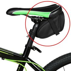 Outdoor Cycling Mountain Bike Bicycle Saddle Bag Back Seat Tail Pouch Package S #Unbranded