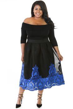 Plus Size Clothing 5X Blue Embroidered Off Shoulder Bardot Dress SEXY Sz 18 20    eBay