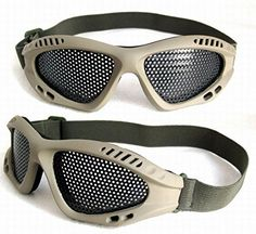 JustBBGuns Airsoft Tactical Metal Mesh Adjustable Goggles *** Learn more by visiting the image link.