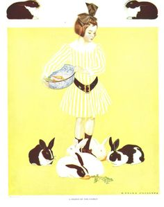 """Coles Phillips - """"A Friend of the Family"""" from """"A Gallery of Girls (1911)"""