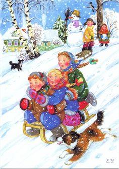 Иллюстрации Елены Уваровой: русская зима