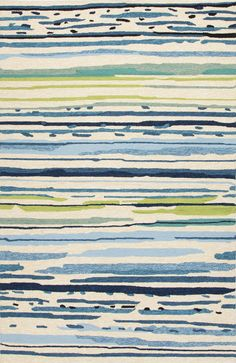 Colours Blue/Green Abstract Indoor/Outdoor Area Rug | Wayfair