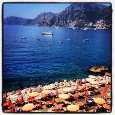 One fire beach Praiano