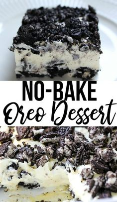 This no bake oreo dessert is a quick and easy dessert you are sure to make again and again! oreodessert oreo dessert nobakedessert allthingsmamma allthingsmamma com oreo pudding cake dessert recipe sweet creamy chocolate pudding cream cheese No Bake Oreo Dessert, Oreo Dessert Recipes, Bon Dessert, Pudding Desserts, Chocolate Chip Recipes, Dessert Food, Cheesecake Recipes, Oreo Dirt Pudding, Oreo Dirt Cake