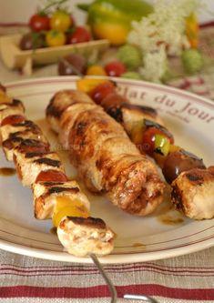Dégustation du poulet farci au chorizo à cuire en rôti ou brochettes cuitent à la plancha sur Kaderick en Kuizinn©