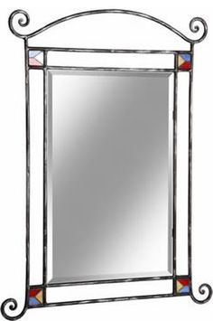 Vintage Industrial Furniture For Your Home Metal Projects, Welding Projects, Metal Crafts, Furniture Projects, Diy Mirror, Mirror Ideas, Stained Glass Mirror, Grill Door Design, Vinyl Room