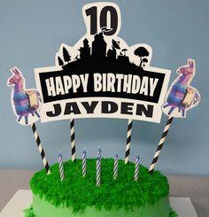 Llama Birthday, 10th Birthday, Diy Birthday, Birthday Parties, Birthday Ideas, Birthday Cards, Diy Cake Topper, Custom Cake Toppers, Custom Cakes
