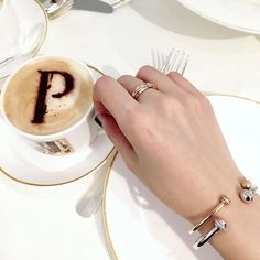 Enjoying a cup of tea at the Piaget Possession lounge