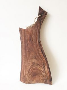 """Hand Carved Rustic Wooden Chopping, Breakfast Serving, Cheese Or Cutting Board - 6.2"""" X 11.4"""" - Made From Walnut Tree by Whole Grain Homes on Gourmly"""