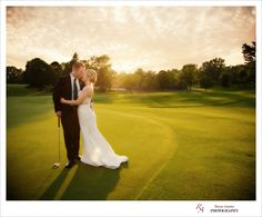 Sunset Wedding Golf Course - Rayan Anastor Photography #michiganphotographer #wedding