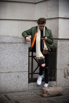 Our roving photographer Robert Spangle snaps the strongest looks on the street at London Collections Men A/W '16.