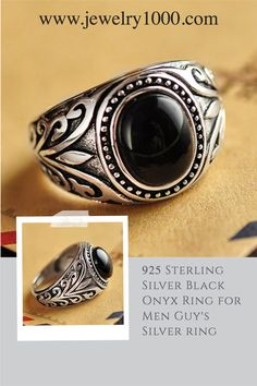 Oxidized Tribal Jewlery 925 Sterling Silver Ring with Lapis /& Coral Or Black Onyx Stone Adjustable Ring-Tribe Antique Fine Ring Gift