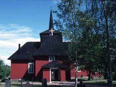 Hiittisten kirkko. Kuva: MV/RHO 26794 Maunu Häyrynen 1988