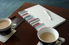 A nice easy way to spruce up a notebook (But I'd need more than one roll of tape for that)