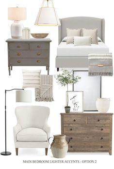 Master Bedroom Makeover, Master Bedroom Design, Dream Bedroom, Home Bedroom, Bedroom Furniture, Gray Bedroom Decor, Guest Bedroom Colors, Romantic Master Bedroom, Dark Furniture