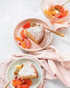 Cake Recipes, Dessert Recipes, Dessert Food, Olive Oil Cake, Spring Desserts, Orange Recipes, Cake Servings, Cake Ingredients, Orange Flowers