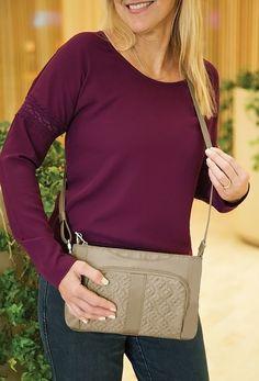 Amazon.com: Travelon Anti-Theft Signature E W Slim Bag, Black, One Size: Clothing