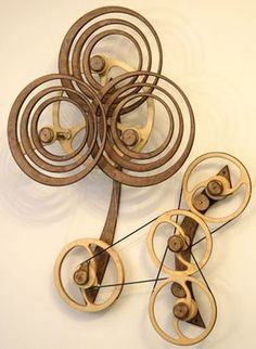 Kinetic Sculpture by David C. Roy - All Sculptures   Wood That Works   Kinetic Art - SummerRain