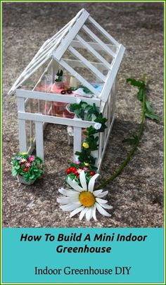 25 Cute DIY Fairy Furniture and Accessories For an Adorable Fairy Garden Miniature Greenhouse, Indoor Greenhouse, Miniature Fairy Gardens, Miniature Dollhouse, Miniature Fairies, Small Greenhouse, Dollhouse Ideas, Fairy Garden Furniture, Fairy Garden Houses