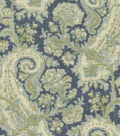 Home Decor Print Fabric-Waverly Porch Paisley Chambray