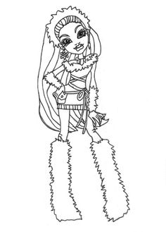 Clawdeen Wolf Monster High Printable Coloring Pages Give a like