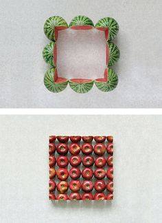 Geometric Food Art by Sakir Gokcebag | Inspiration Grid | Design Inspiration