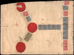 Japan 1901, large sized registered cover with reverse French franking and ship's cancel Marseille A YOKOHAMA at Ms. J.de Witte (later 1. Prime Minister Russia) uncirculated Petersburg, transportation and defects from opening the cover    Dealer  Schwanke GmbH    Auction  Minimum Bid:  200.00EUR