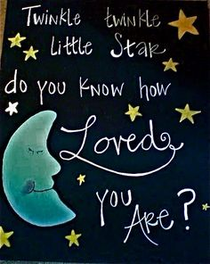 Excellent Saying About Moon Twinkle Twinkle Little Star Do You . Baby Shower Gifts, Baby Gifts, Love You, Just For You, Quilt Labels, Twinkle Twinkle Little Star, Grandchildren, Granddaughters, Baby Love