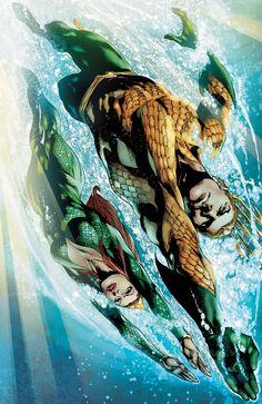Aquaman & Mera by Ivan Reis