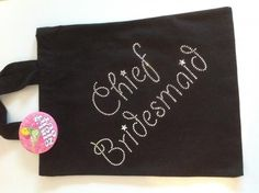 Hen party chief bridesmaid fabric gift bag