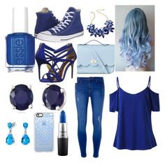 """Bluetastic"" by punkie707 ❤ liked on Polyvore featuring Kate Spade, The Cambridge Satchel Company, Converse, Dorothy Perkins, Ted Baker, Effy Jewelry, Essie, MAC Cosmetics, Casetify and Bling Jewelry"