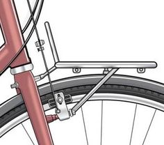 Diagram of front rack with single anchor point Powered Bicycle, Bicycle Rack, Steel Racks, Bike Frame, Bike Accessories, Cool Bikes, Anchor, Biker, Automobile
