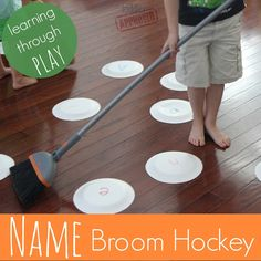Toddler Approved!: Name Broom Hockey - an active way to learn letters