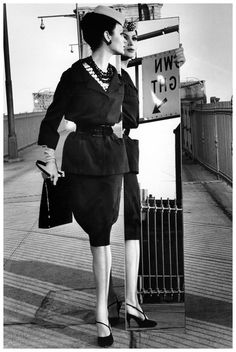 Isabella Albonico in Couture International, photo by William Klein, New York City,1959