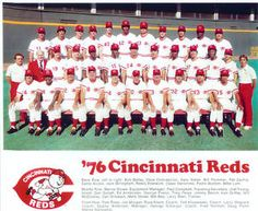 1976 Cincinnati Reds, the team that swept the pinstripes clean in the World Series.