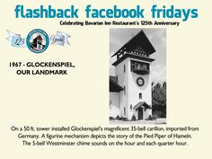 Each week during 2013, we will feature a flashback photo and share our history. Please share these weekly postings with your friends and family and join us in celebrating our 125th anniversary.  Week 30- Our Glockenspiel