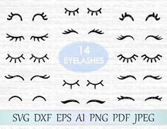 Eyelashes SVG (Graphic) by MagicArtLab · Creative Fabrica Cricut Explore, Plotter Silhouette Cameo, Programing Software, Craft Club, Free Svg Cut Files, Embroidery Files, Svg Cuts, Design Bundles, Design Crafts