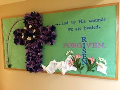 The second half of my church school Lent and Easter bulletin board for March.