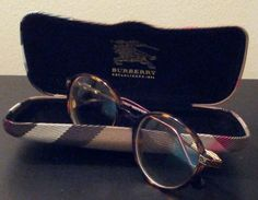 Burberry Tortoise Round Eyeglasses Frame with Case