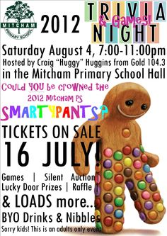 I really liked this Smartie Pants idea and could be used for all sorts of fundraising quiz activities